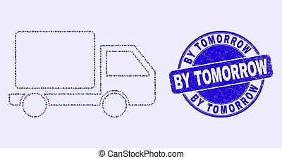 Blue Distress By Tomorrow Stamp and Lorry Mosaic