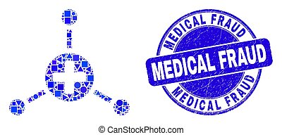 Blue Distress Medical Fraud Stamp and Medical Center Links ...