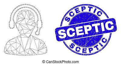 Blue Distress Sceptic Stamp Seal and Web Carcass Radio ...