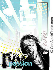 dj poster background - blue dj poster background in the ...