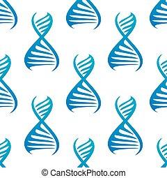 Blue DNA seamless pattern
