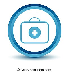 Blue doctor bag icon