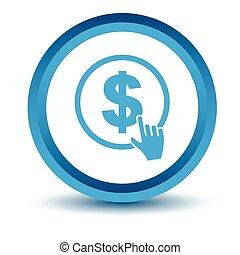 Blue Dollar click icon