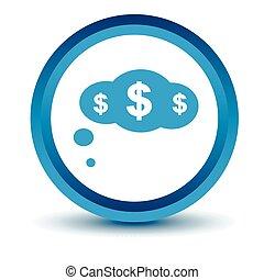 Blue Dollar cloud icon