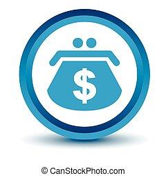 Blue Dollar purse icon