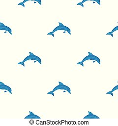 Blue dolphin pattern seamless