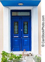Blue door - architectural detail