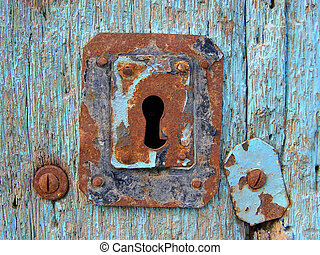 Blue Door - Blue door with keyhole