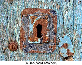 Blue Door - Blue door with keyhole
