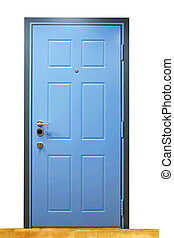 Blue door - Close up shot of closed blue door