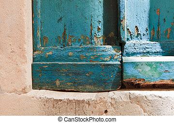 Blue door corner 2