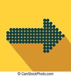Blue dot arrow flat icon