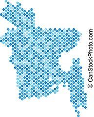 Blue Dot Bangladesh Map