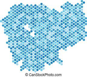 Blue Dot Cambodia Map