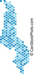 Blue Dot Malawi Map