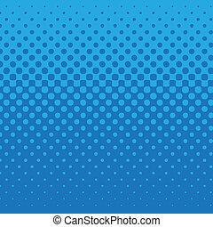Blue dot pattern - linear halftone tone background blue with...