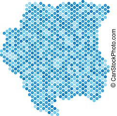 Blue Dot Suriname Map
