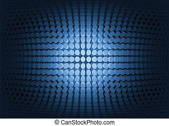 Blue doted vector techno space illu
