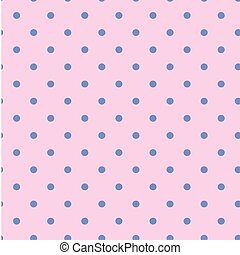 Blue Dots Pattern Pink Background Vector Image