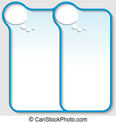 blue double text frame with speech bubble