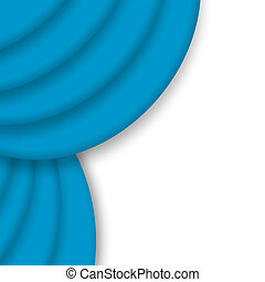 Blue drape curtain corner over white background