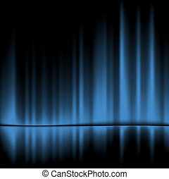 Blue drapes reflected.Vector background, 10eps
