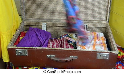 blue dress suitcase