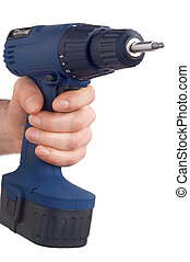 blue drill - blaue Bohrmaschine - blue power drill with...
