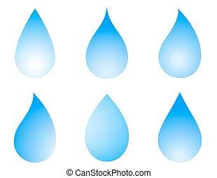 blue droplet set