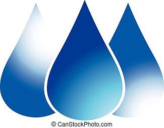 Blue drops