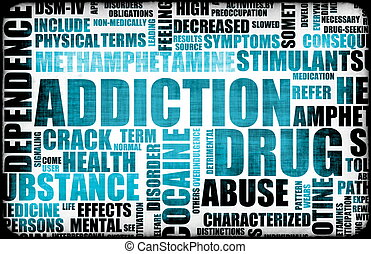 Blue Drug Addiction Dangers Grunge As a Concept