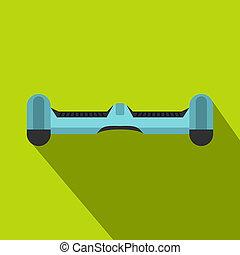 Blue dual wheel self balancing skateboard icon - Blue dual...