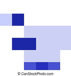 Blue duck on white background