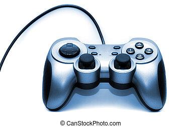 Blue duotone Gamepad on white background