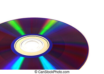 DVD isolated on the white