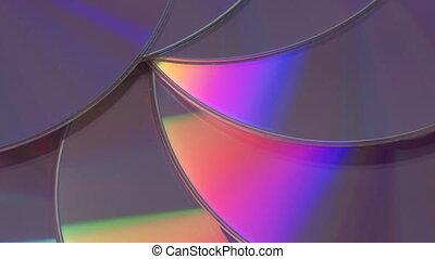 Blue DVD rotating close-up