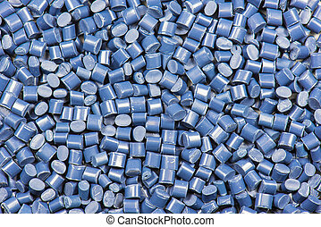 blue dyed synthetic polymer pellets for background