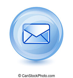 e-mail icon - blue e-mail icon for web