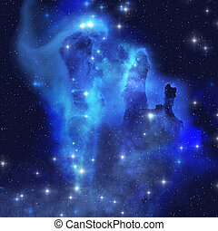 BLUE EAGLE NEBULA - The brilliant blues of this star making...