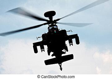 Blue Eagles Apache aerial display at Biggin Hill Airshow