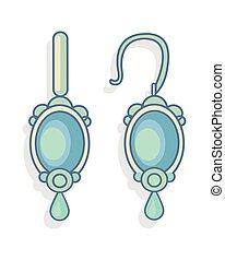 Blue Earrings Beautiful Accessory