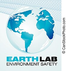 Blue Earth Background - Glossy delicate blue earth icon to...