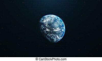 blue earth in open space