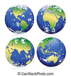 Blue Earth Marbles. The base map is from: The map is traced in Adobe Illustrator on August 20th 2010 using the map's outlines layer data. Clouds reference photos from NASA.