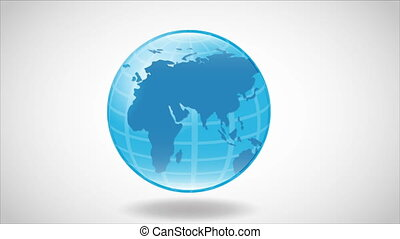 Blue earth Video animation