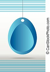 Blue easter background with egg