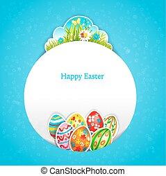 Blue Easter background
