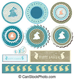 Blue Easter Banner Set