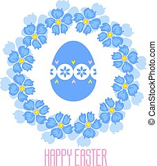 Easter vector composition. Isolated from the background.