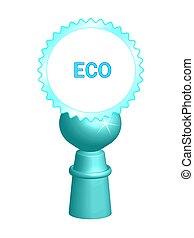 Blue eco symbol